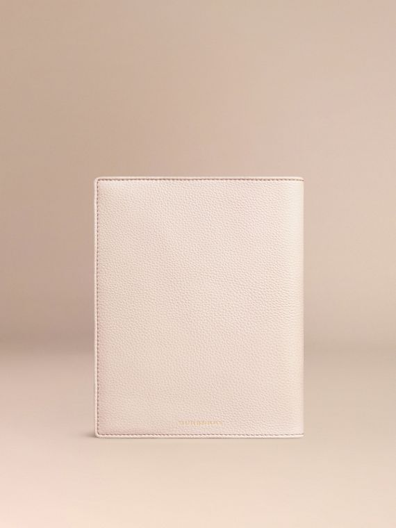 Grainy Leather A5 Notebook in Stone | Burberry Canada - cell image 3