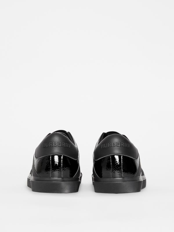 Union Jack Motif Slip-on Sneakers in Black - Men | Burberry - cell image 3