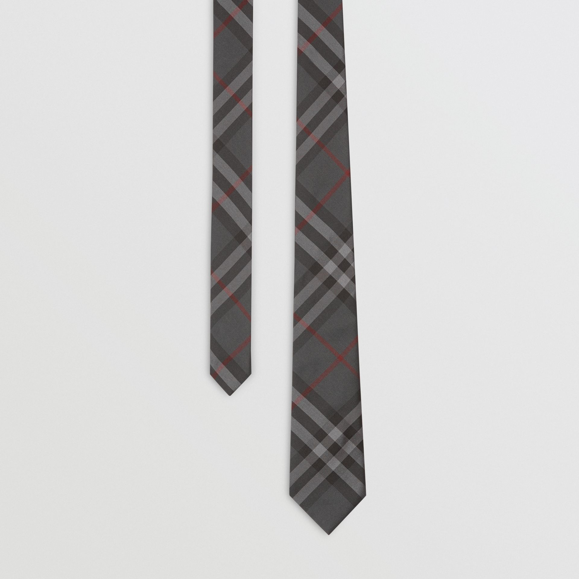 Modern Cut Vintage Check Silk Tie in Dark Charcoal - Men | Burberry - gallery image 0