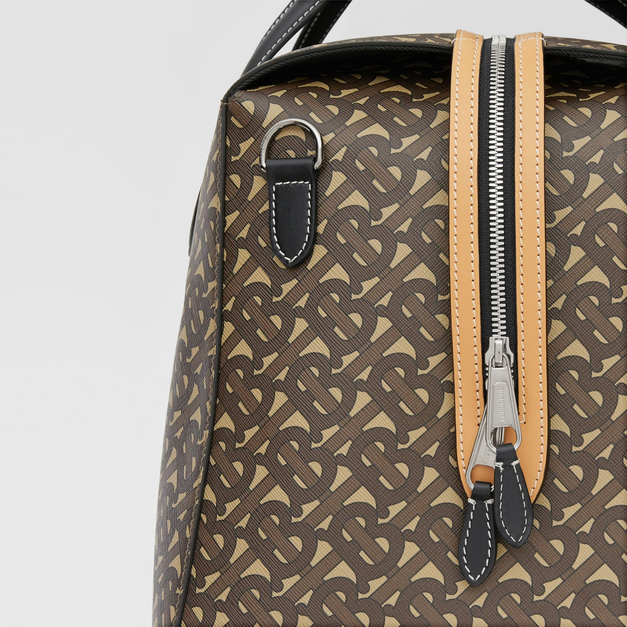 Monogram Print E-canvas Holdall in Bridle Brown - Men | Burberry - 2