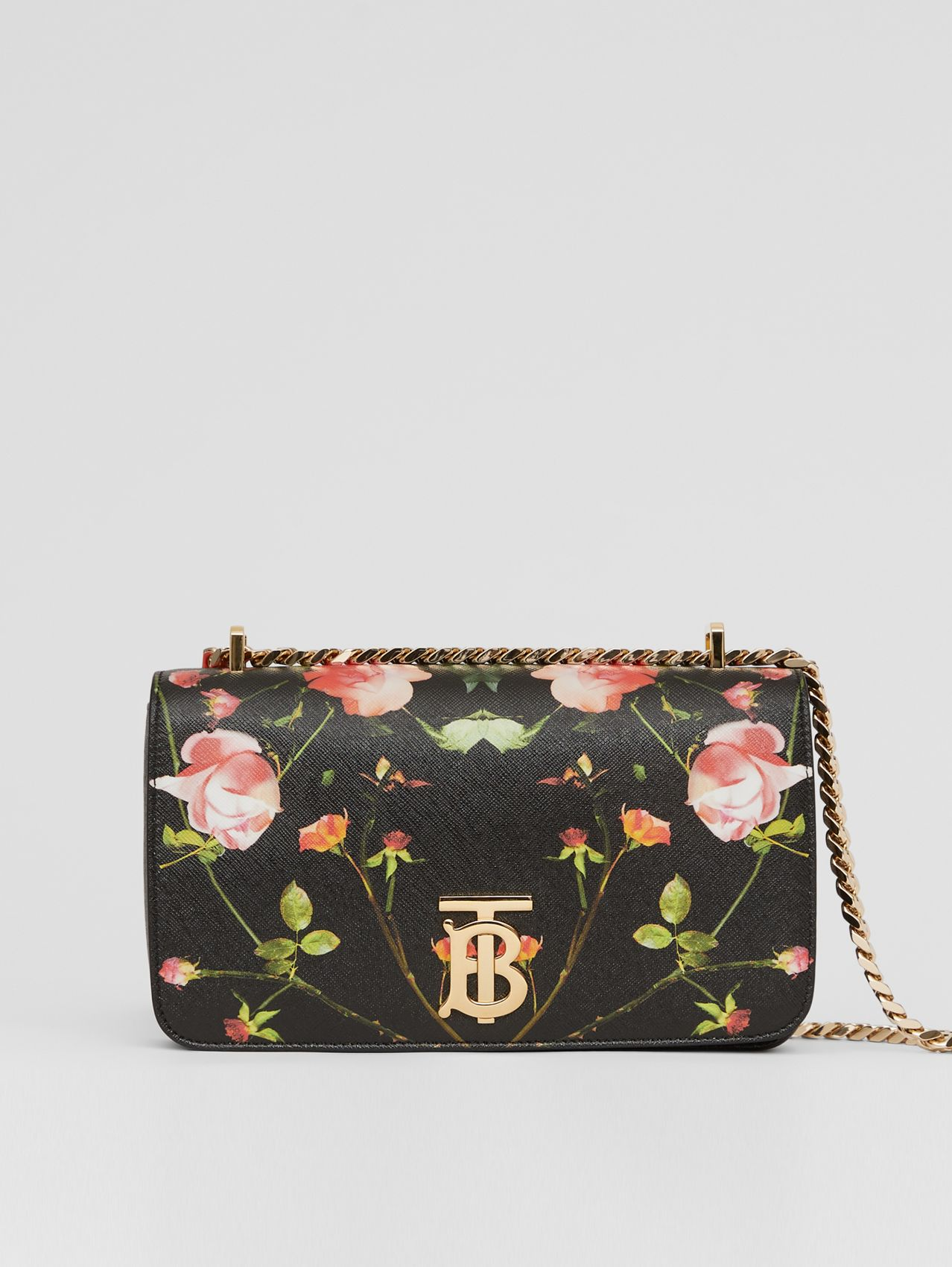 Small Rose Print E-canvas Lola Bag – Online Exclusive in Black