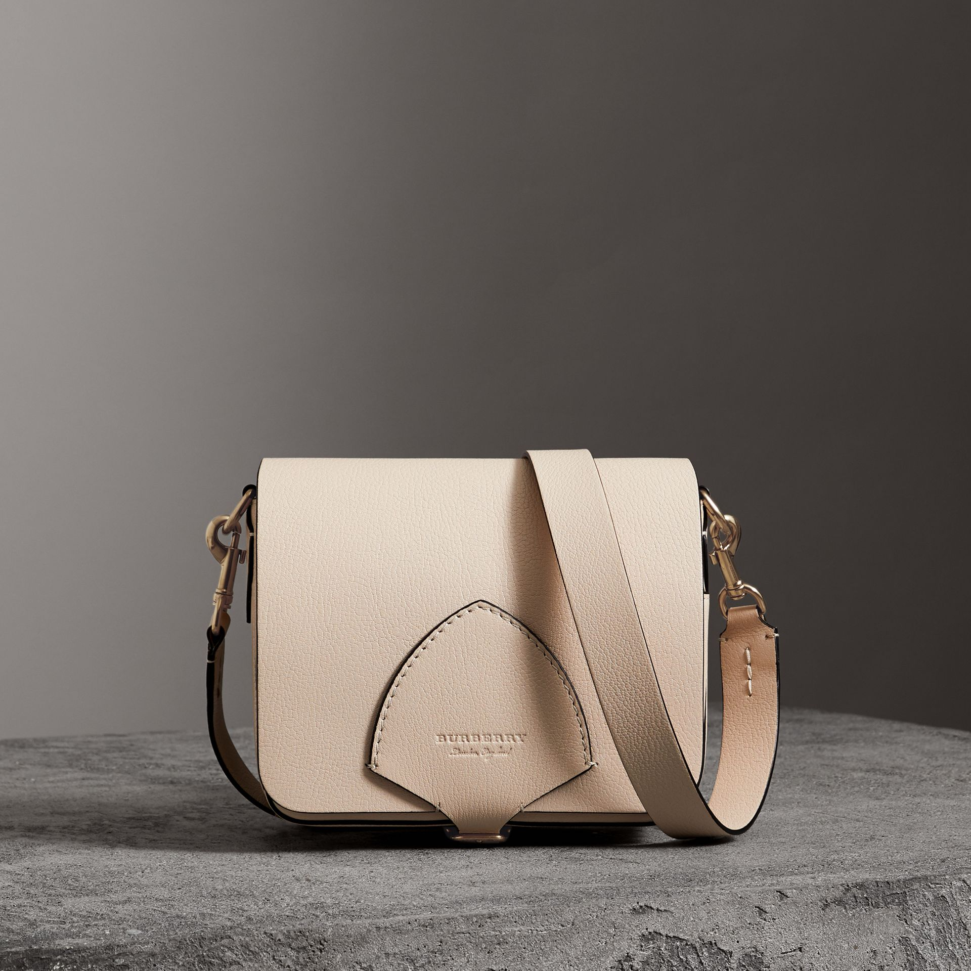 The Square Satchel in Leather in Stone - Women | Burberry - gallery image 0