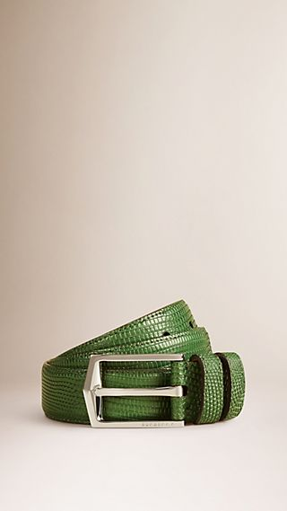 Textured Lizard Belt