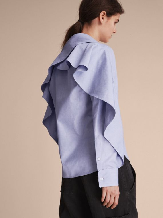 Ruffle Detail Cotton Shirt - cell image 2