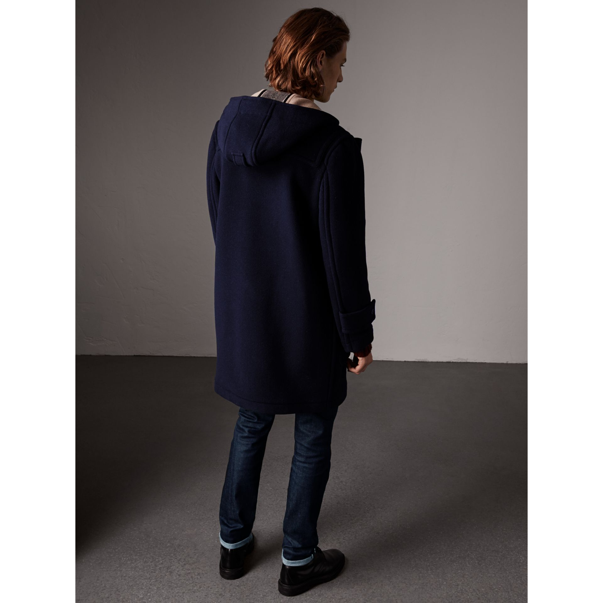 The Greenwich Duffle Coat in Navy - Men | Burberry Singapore - gallery image 3