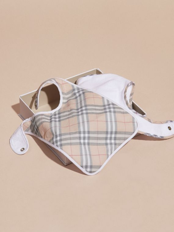 Cotton Two-piece Baby Gift Set in White | Burberry - cell image 3