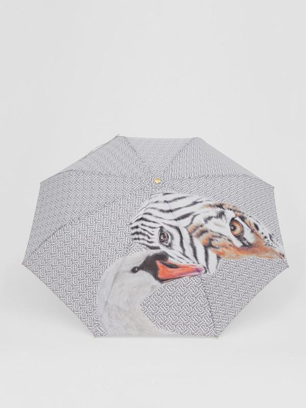 Animalia Print Folding Umbrella - Women | Burberry Australia - cell image 3