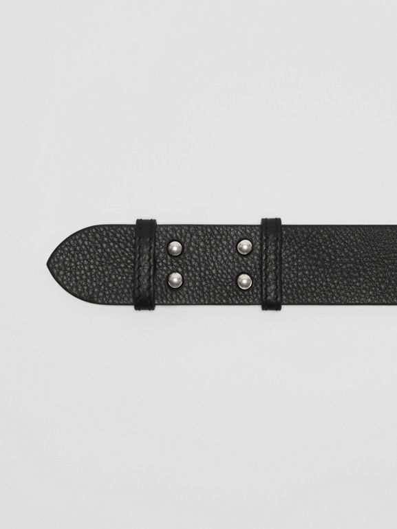 The Small Belt Bag Grainy Leather Belt in Black - Women | Burberry United States - cell image 1