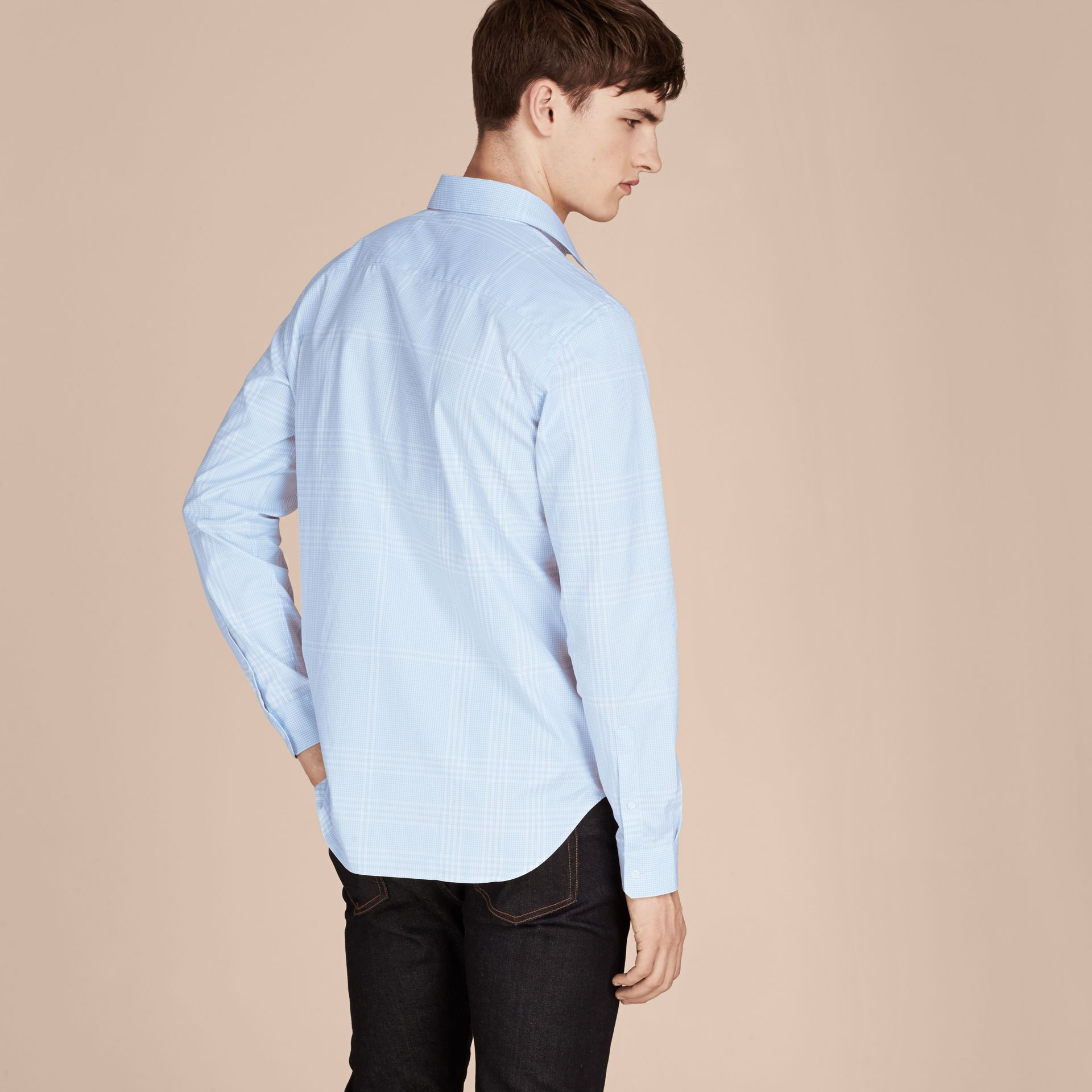 City blue Check Cotton Shirt City Blue - gallery image 3