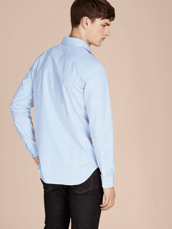 City blue Check Cotton Shirt City Blue - cell image 2