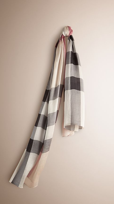 Trench check Check Silk Satin Scarf - Image 1
