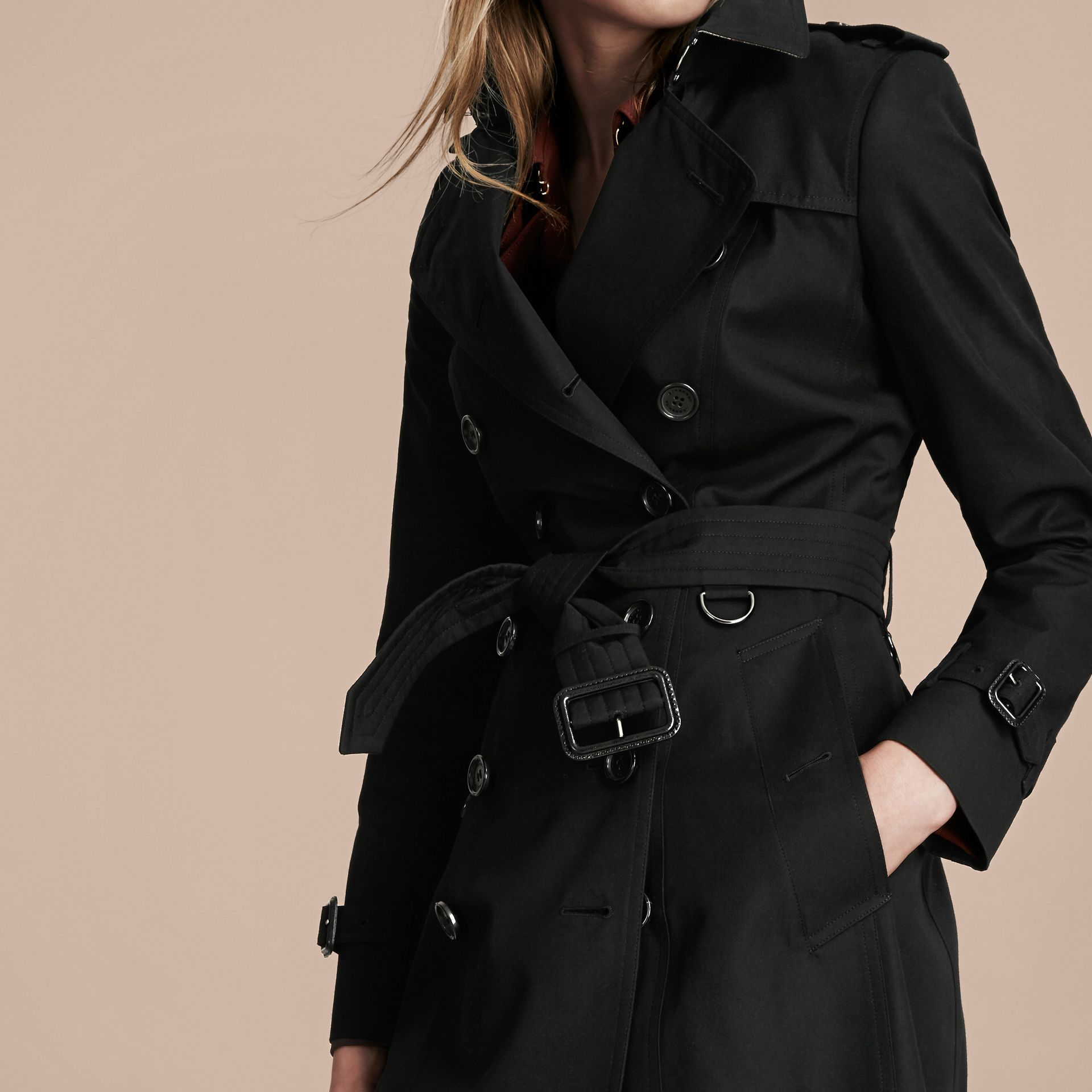 Black The Chelsea – Extra-long Heritage Trench Coat Black - gallery image 6
