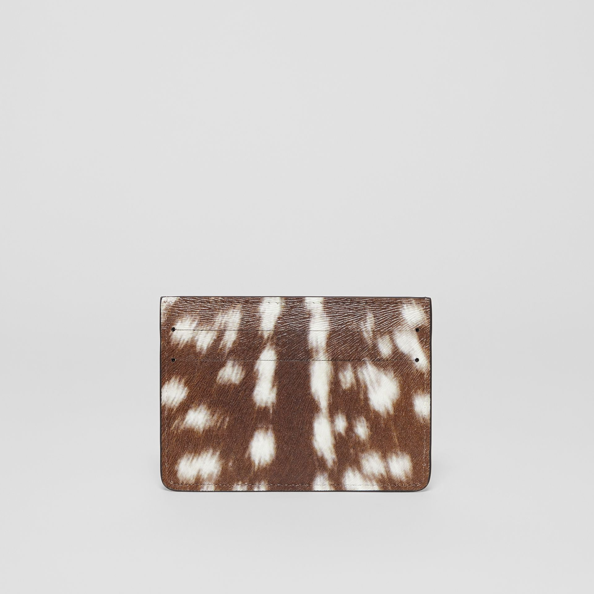 Deer Print Leather Card Case in Tan/white | Burberry Hong Kong S.A.R - gallery image 3