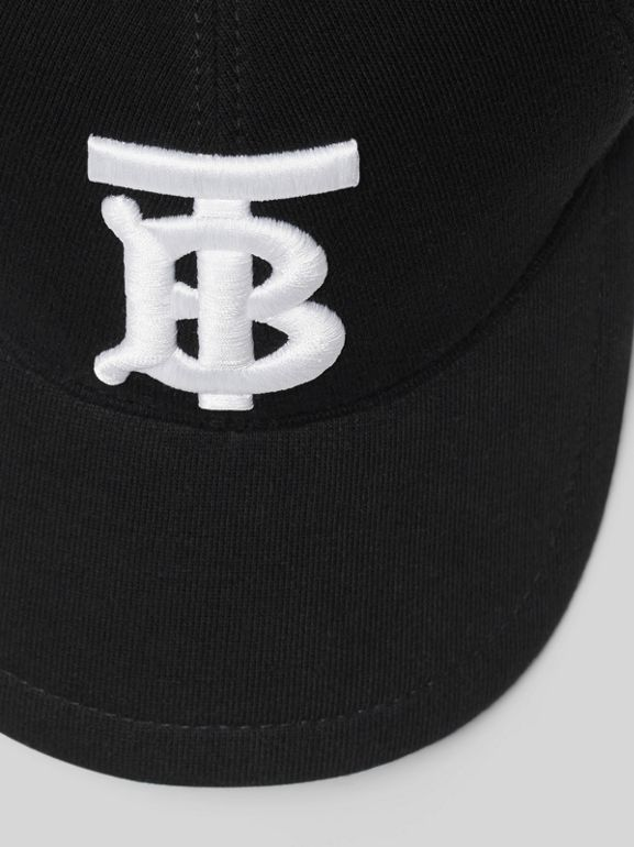 Monogram Motif Baseball Cap in Black | Burberry Canada - cell image 1