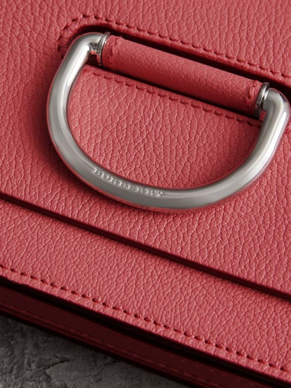 The Mini Leather D-ring Bag in Bright Coral Pink - Women | Burberry Australia - cell image 1