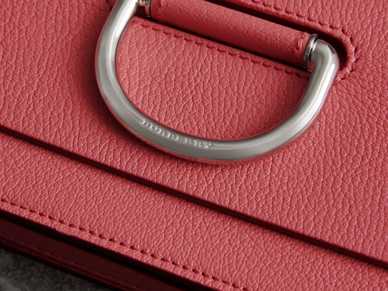 The Mini Leather D-Ring Bag in Bright Coral Pink - Women | Burberry - cell image 1