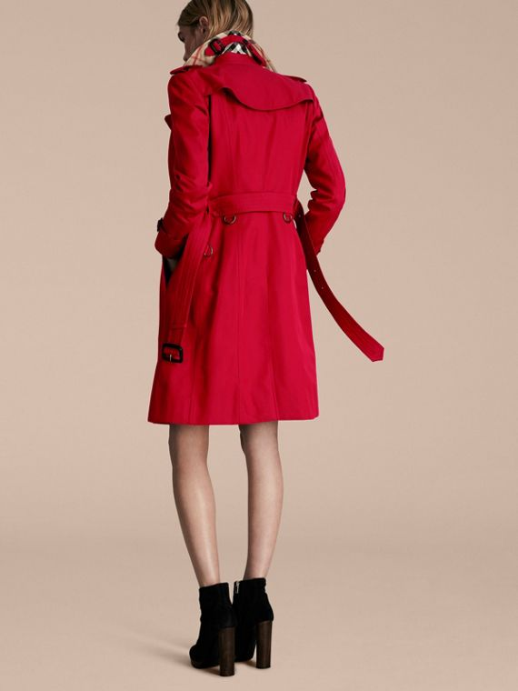 Rojo desfile Trench coat Chelsea – Trench coat Heritage largo Rojo Desfile - cell image 2