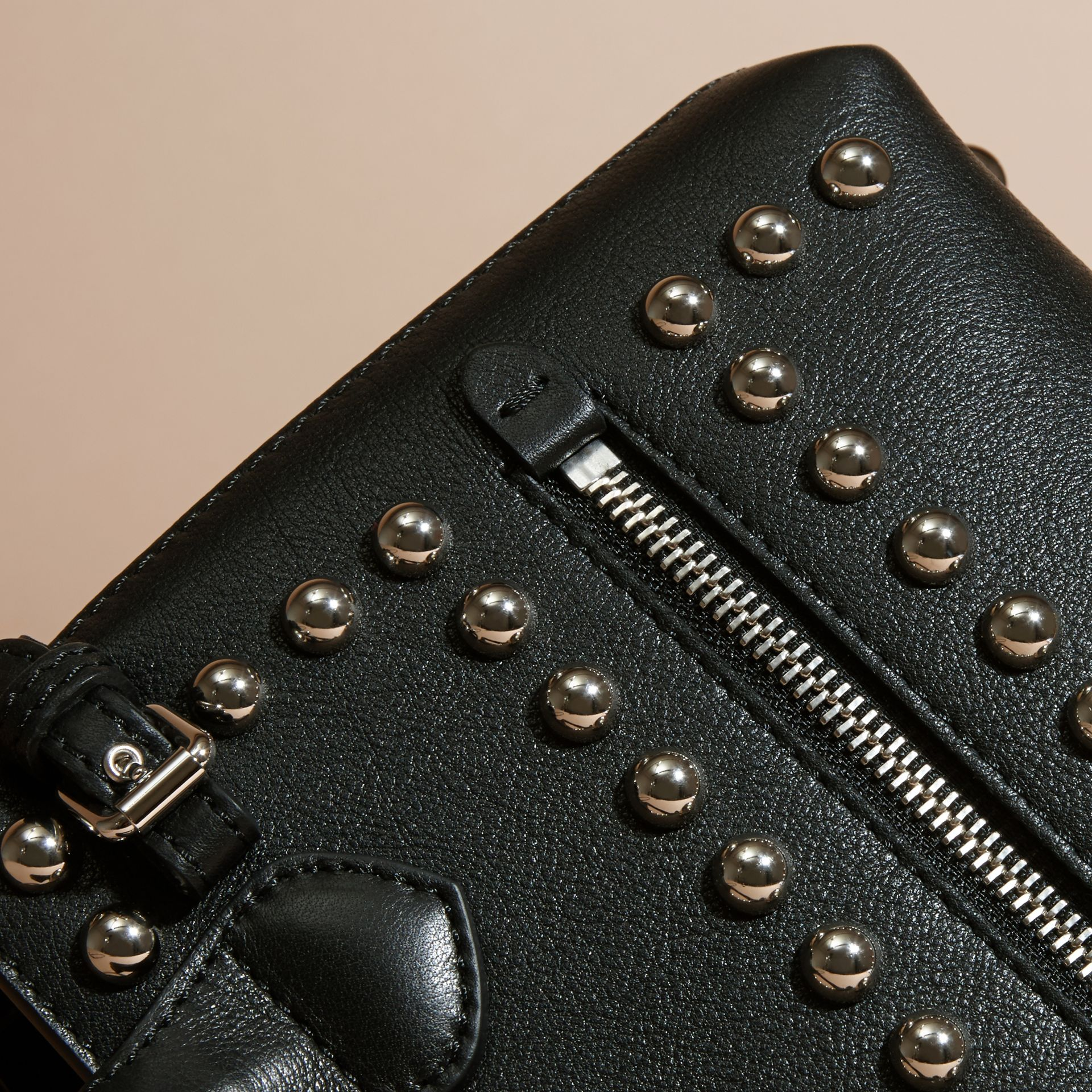 Black The Baby Banner in Studded Leather and House Check - gallery image 6