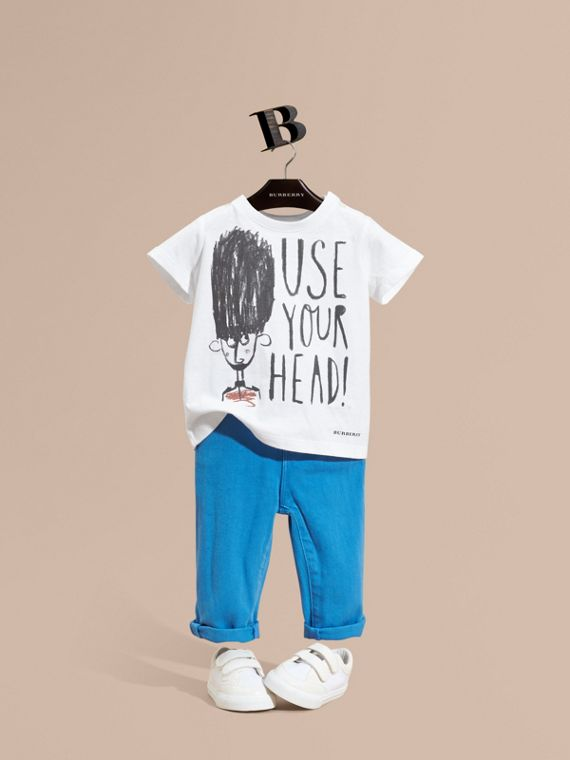 T-shirt en coton avec imprimé graphique Use Your Head
