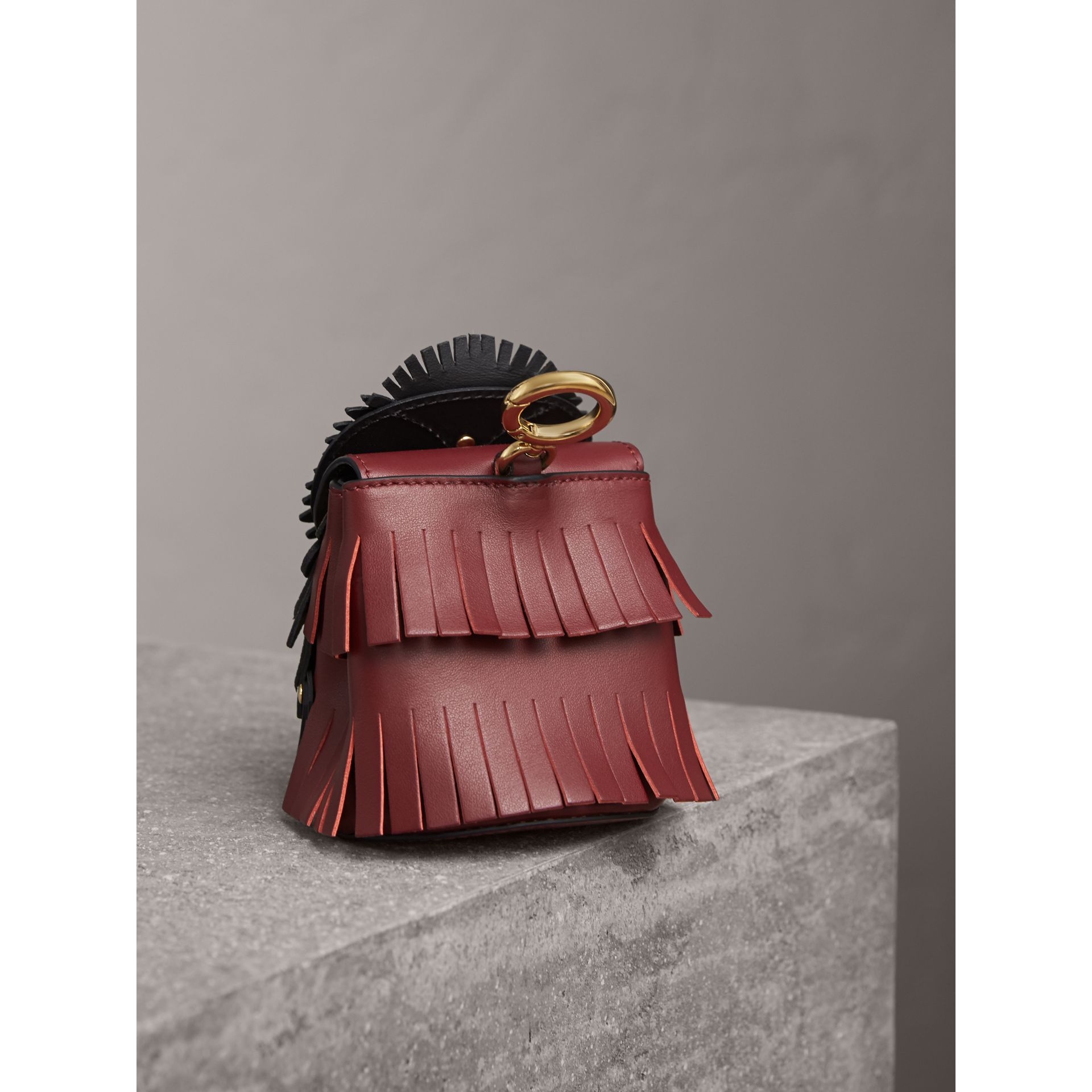 The Owl – Leather and Snakeskin Coin Case in Wine - Women | Burberry - gallery image 3
