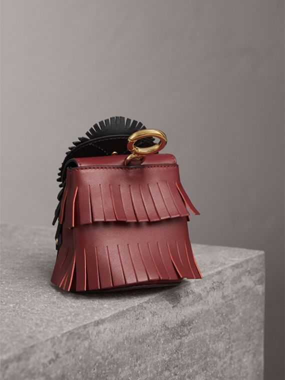 The Owl – Leather and Snakeskin Coin Case in Wine - Women | Burberry Hong Kong - cell image 2