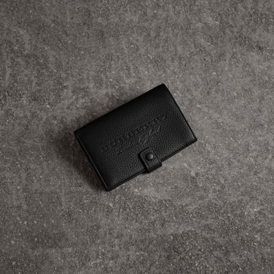 EMBOSSED GRAINY LEATHER FOLDING WALLET