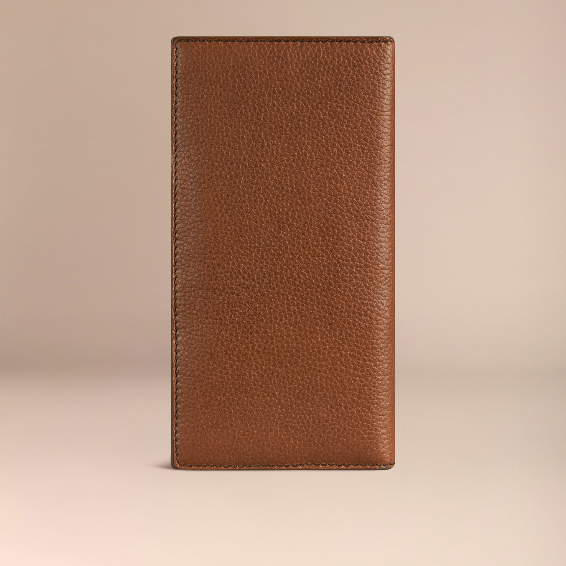 Grainy Leather Travel Card Case in Tan - gallery image 3
