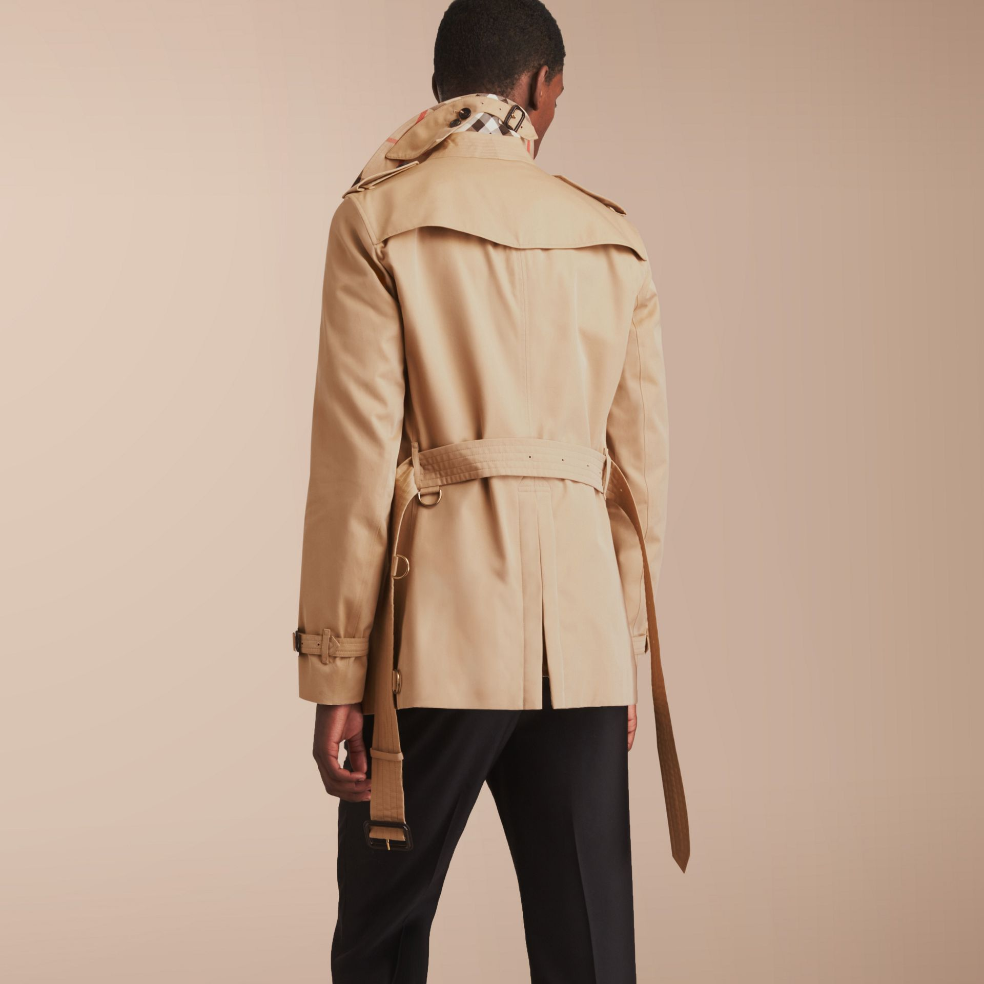 The Chelsea – Short Heritage Trench Coat in Honey - gallery image 3