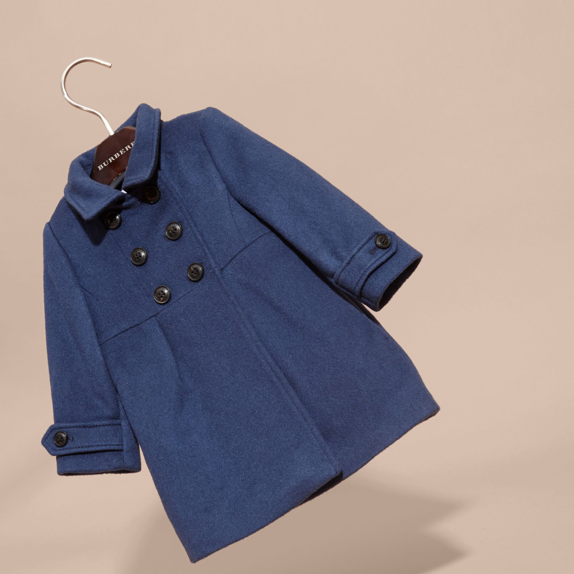 Bright navy Tailored Cashmere Coat Bright Navy - gallery image 3
