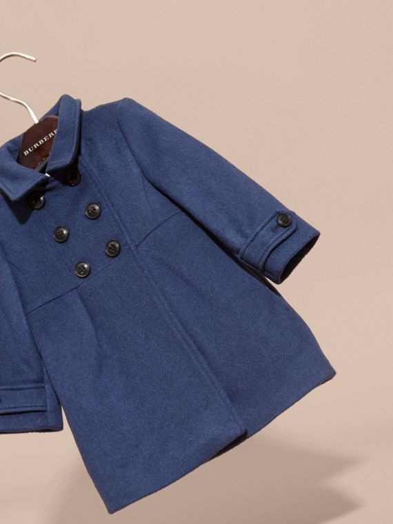 Tailored Cashmere Coat in Bright Navy - cell image 2