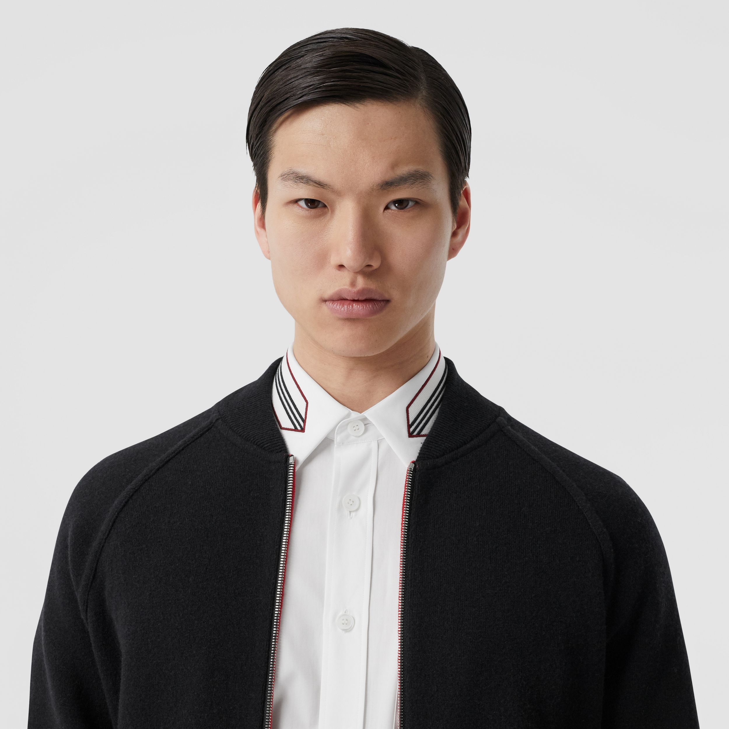 Double-faced Wool Cashmere Blend Bomber Jacket in Black - Men | Burberry - 2