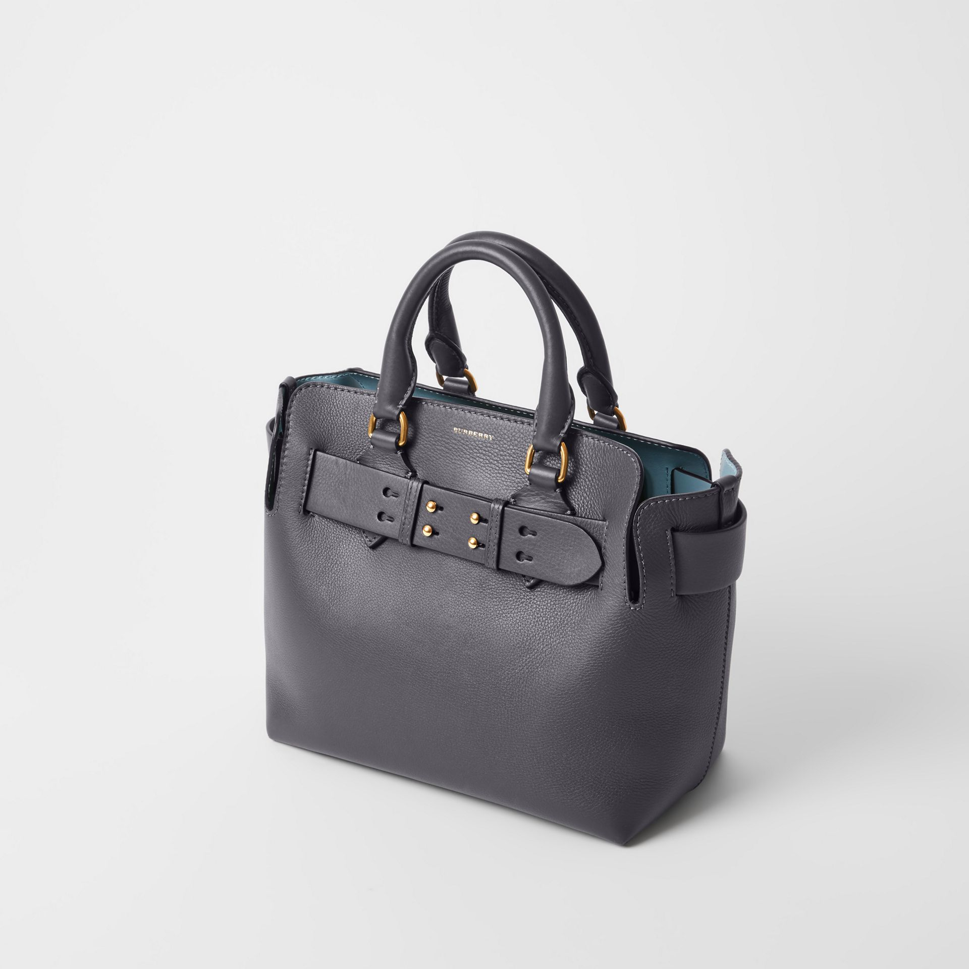 The Small Leather Belt Bag in Charcoal Grey - Women | Burberry Singapore - gallery image 3