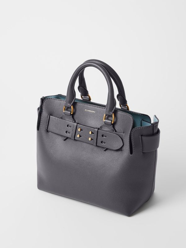 The Small Leather Belt Bag in Charcoal Grey - Women | Burberry - cell image 3
