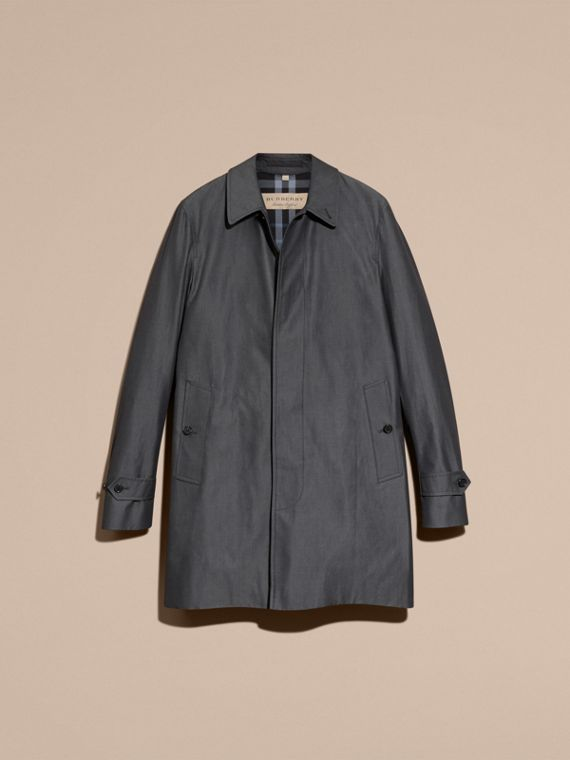 Cotton Gabardine Car Coat True Indigo - cell image 3