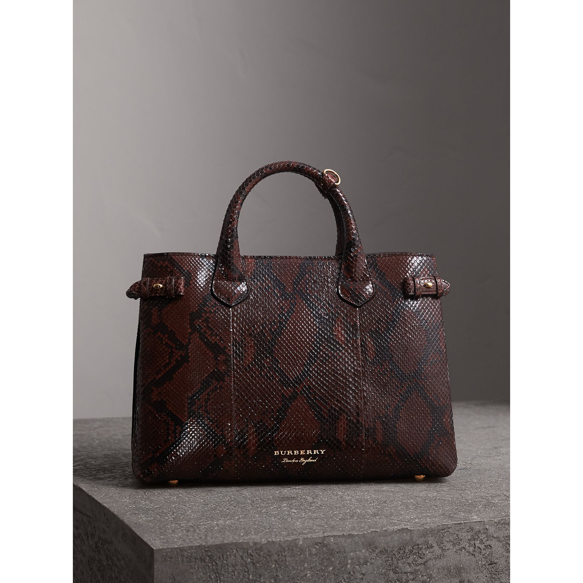 The Medium Banner in Python in Chocolate - Women | Burberry United Kingdom - gallery image 5