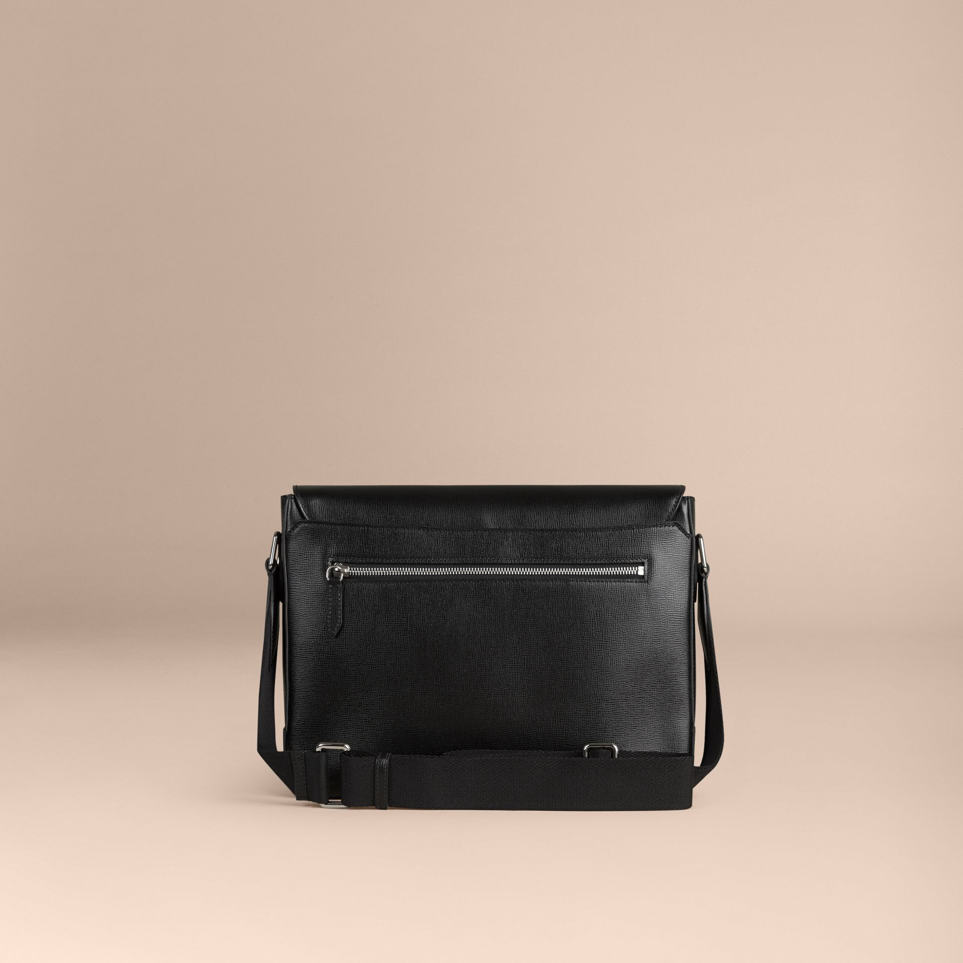 Black London Leather Briefcase Black - gallery image 3