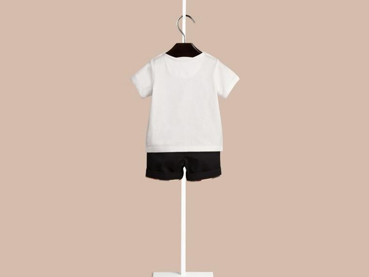 Branco Camiseta de algodão com estampa tipográfica - cell image 2