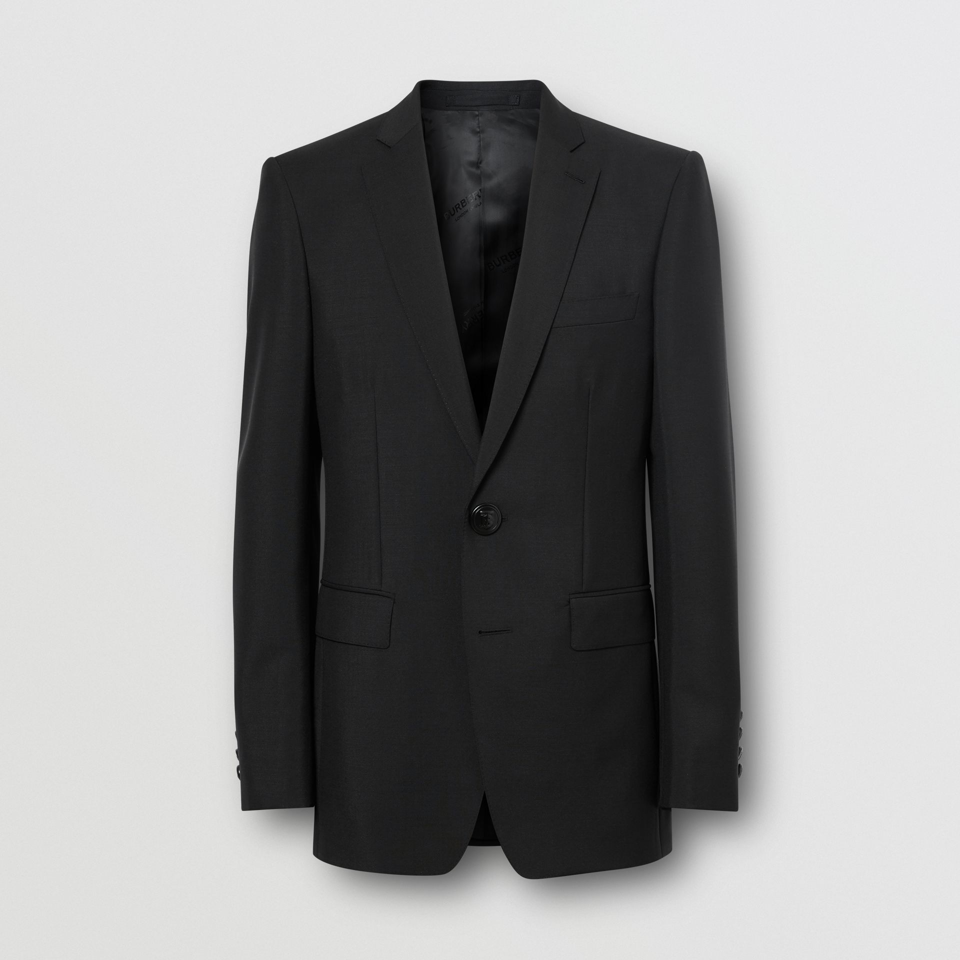 English Fit Wool Mohair Tailored Jacket in Black - Men | Burberry - gallery image 3