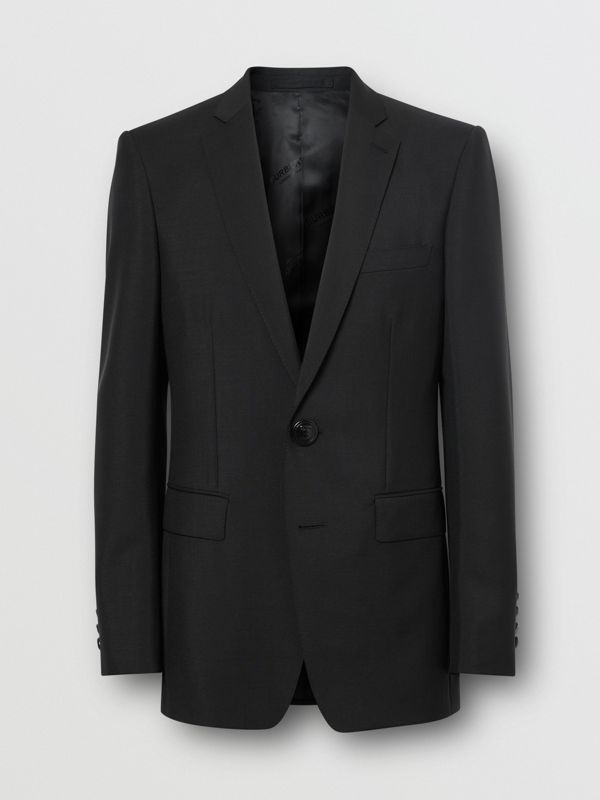 English Fit Wool Mohair Tailored Jacket in Black - Men | Burberry - cell image 3