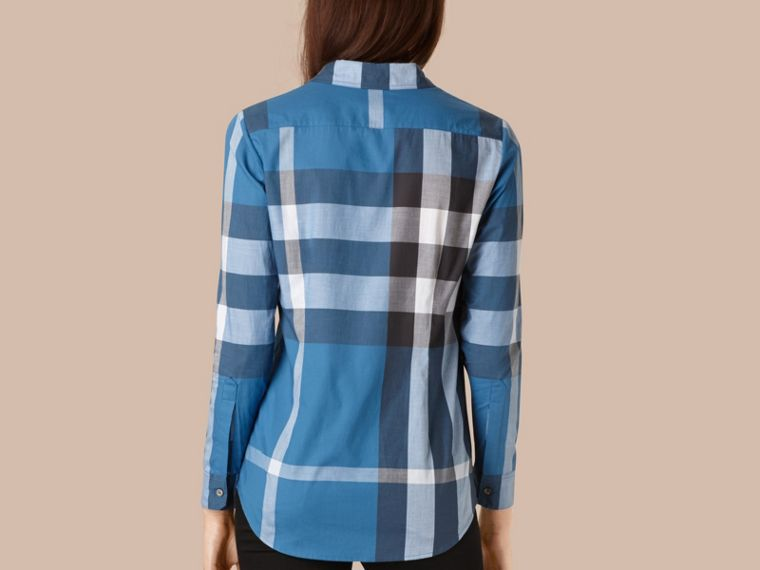 Lupin blue Check Cotton Shirt Lupin Blue - cell image 1
