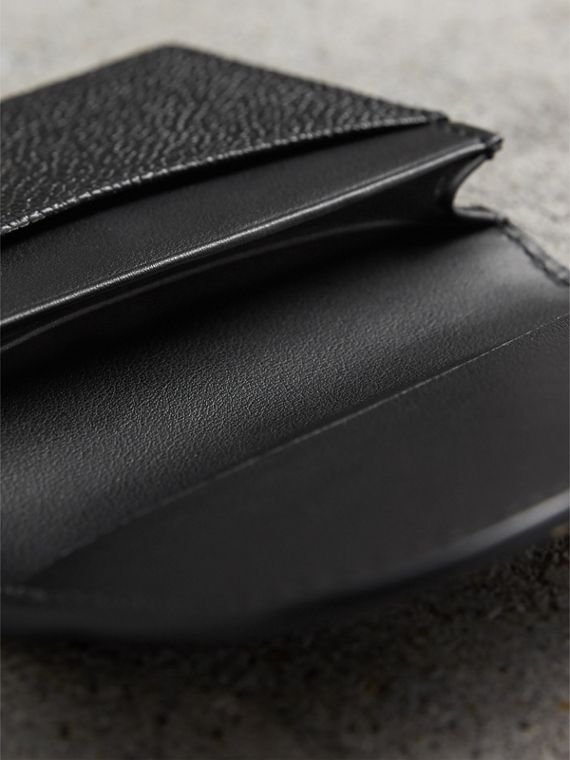 Grainy Leather Card Case in Black - Women | Burberry - cell image 3