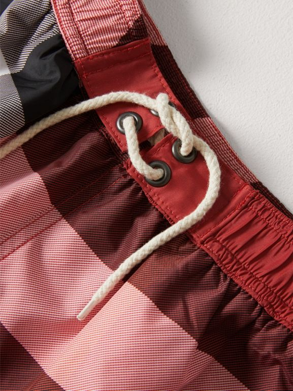 Check Swim Shorts in Parade Red - Boy | Burberry Singapore - cell image 1