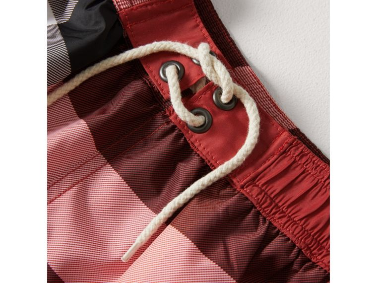 Check Swim Shorts in Parade Red - Boy | Burberry - cell image 1