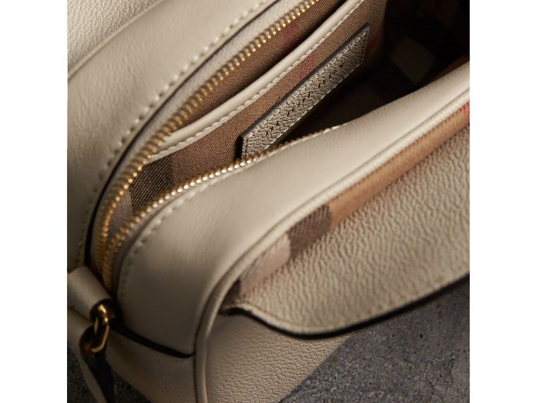 The Small Buckle Crossbody Bag in Leather in Limestone - Women | Burberry - cell image 4
