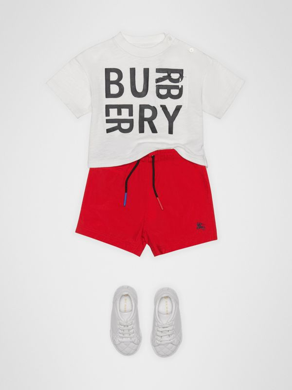 Drawcord Swim Shorts in Military Red - Children | Burberry - cell image 2