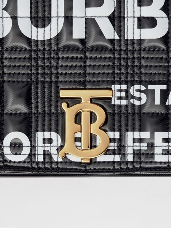 Small Horseferry Print Quilted Check Lola Bag in Black/gold | Burberry United Kingdom - cell image 1