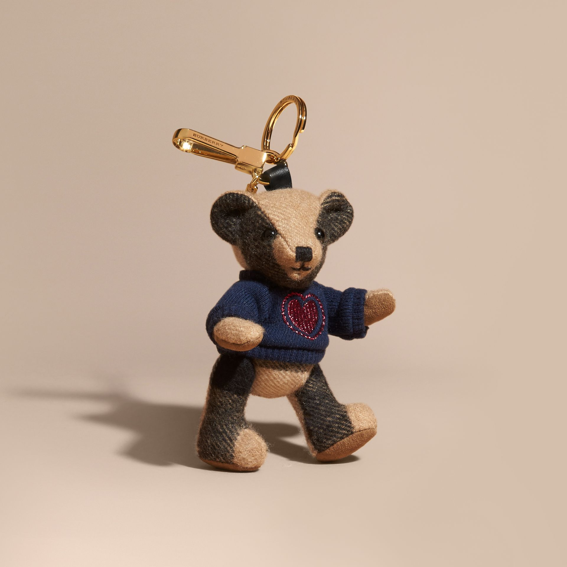 Thomas Bear Charm in Check Cashmere - gallery image 1