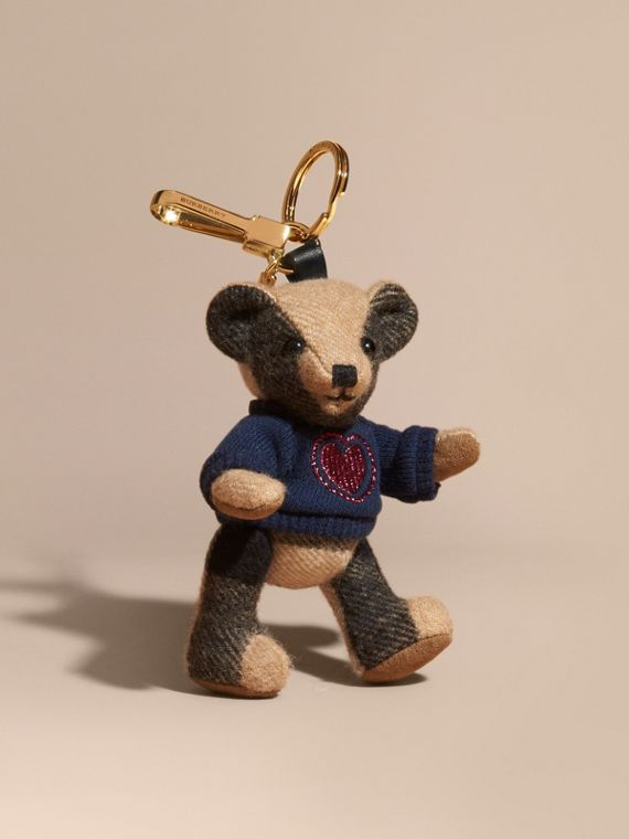 Adorno do Thomas Bear de cashmere com estampa xadrez