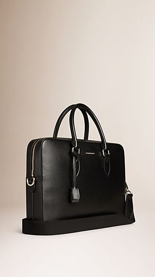 Medium London Leather Briefcase