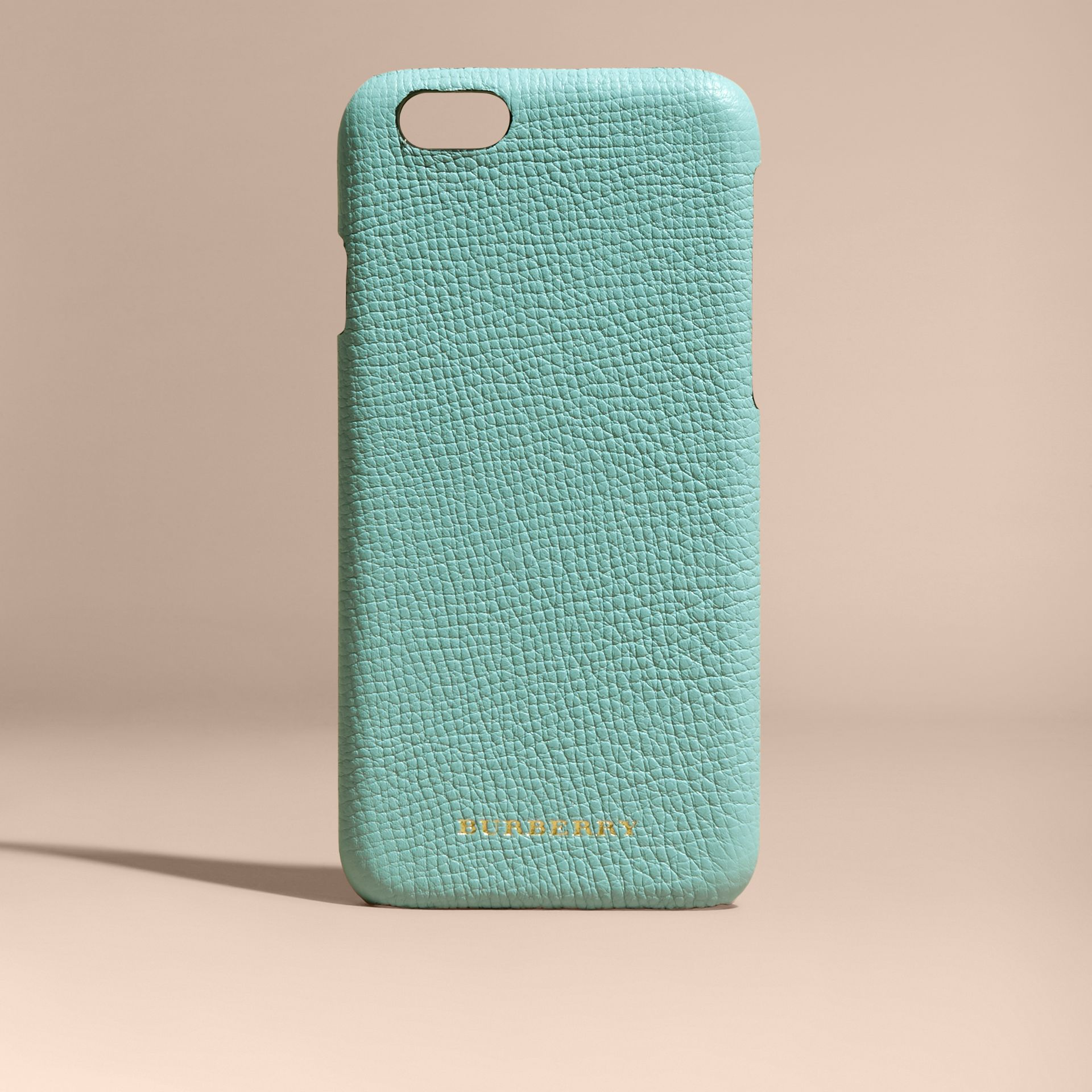 Grainy Leather iPhone 6 Case in Pale Opal - Women | Burberry - gallery image 5